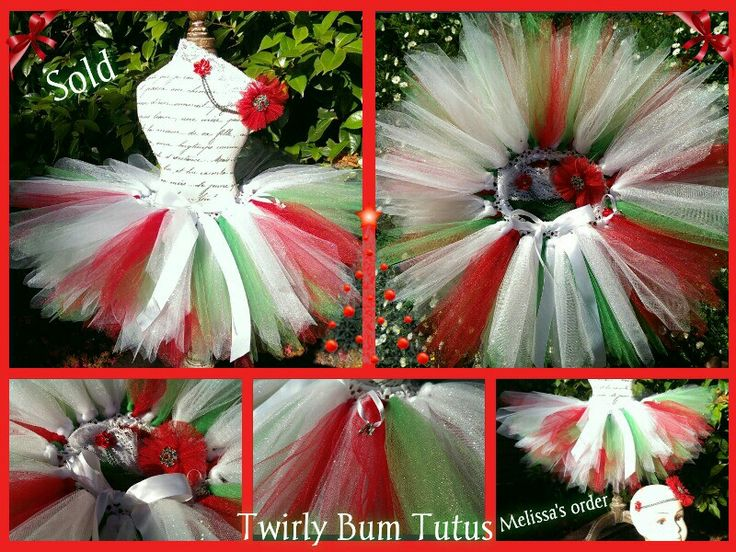 Custom Christmss tutu...sold ! Added glitter for a extra special touch x