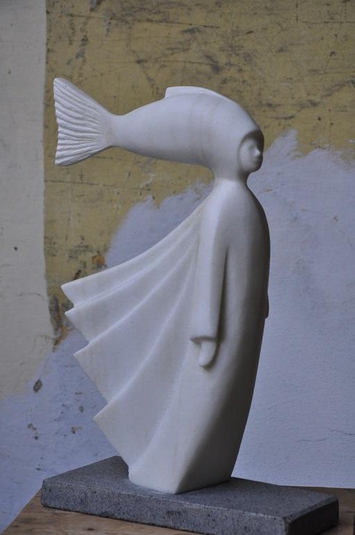 "Saatchi Online Artist: paolo figar; Marble, 2011, Sculpture ""fish star"""