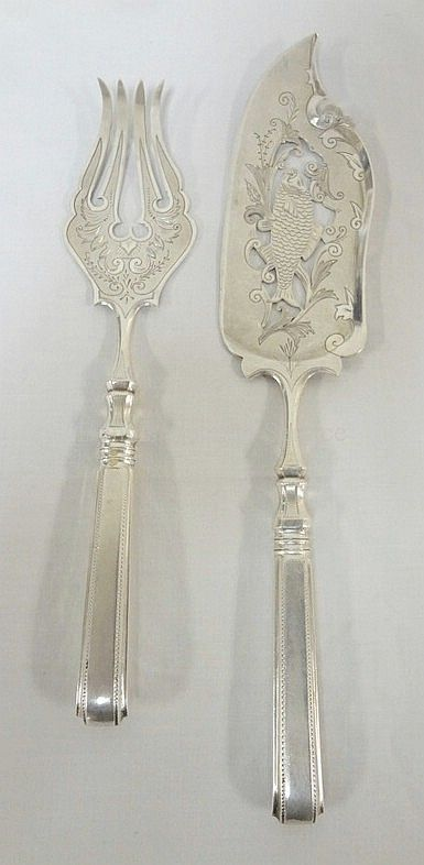 RUSSIAN SILVER 2 PC FISH SET; MARKED 84 RM 1888 Realized Price & 80 best Sterling - Serving Pieces images on Pinterest | Cutlery ...
