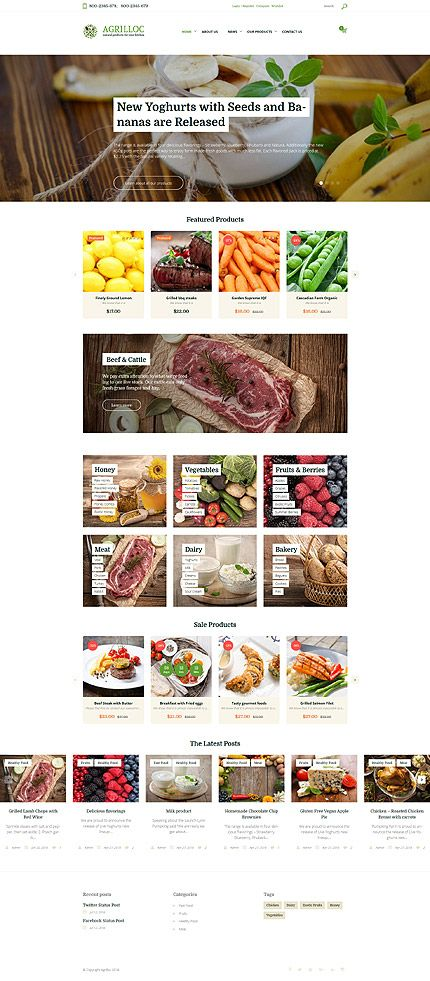 Natural Cooking Products Online Store #WooCommerce #template. #themes #business #responsive #WooCommercethemes