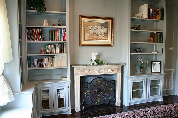 sitting room/library off the master bedroom