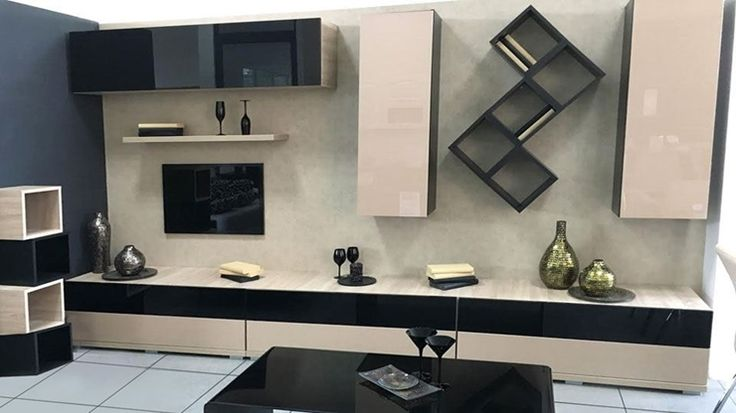 Imaginea Living C 21  Living modular, modern, lungime 360 cm, fronturi din MDF lucios, care se poate adapta dupa spatiul si preferintele dvs.