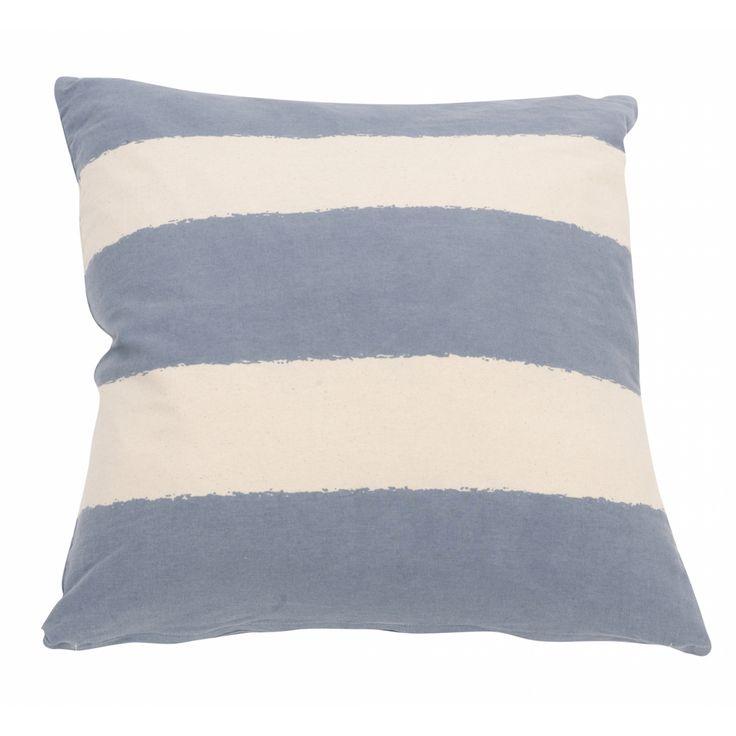 Putetrekk Jeansblå Stripes - Puter/Trekk/Sitteputer - By Lysneshjem