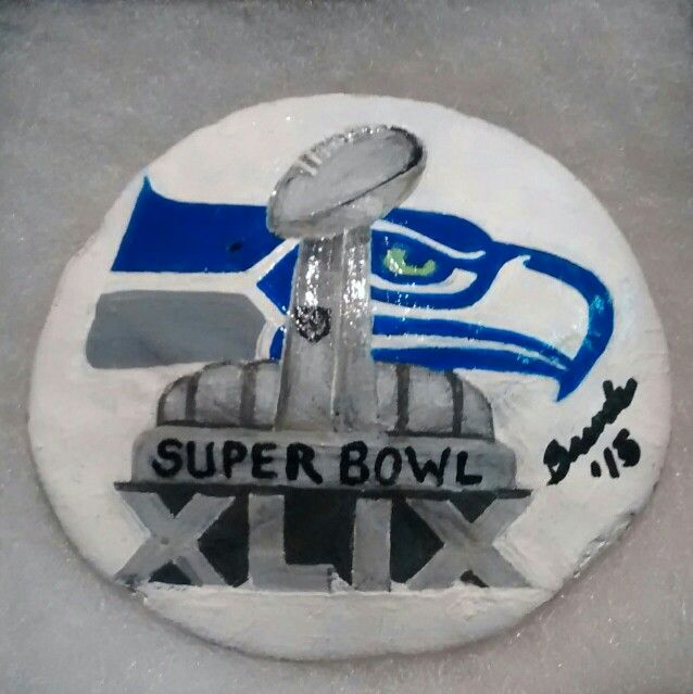 SEAHAWKS baby! (Handpainted by Brenda Preston)
