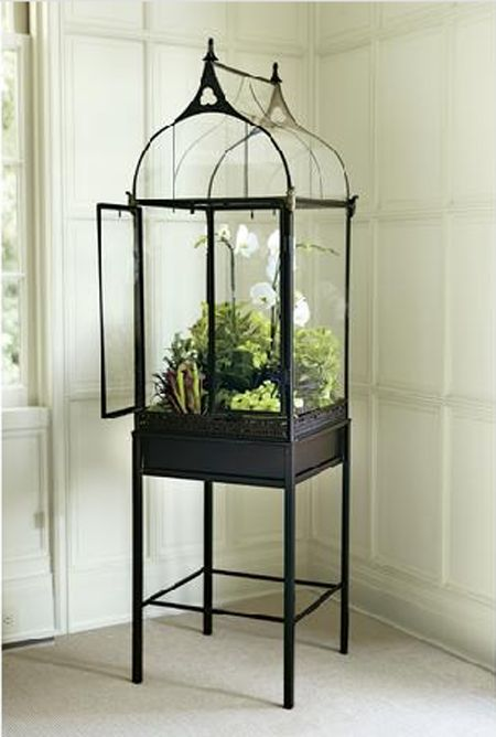 Modeled after the Wardian cases first built for growing ferns in the early 1800s, this terrarium creates a warm, humid environment that encourages plant growth, no matter what the temperature outside.