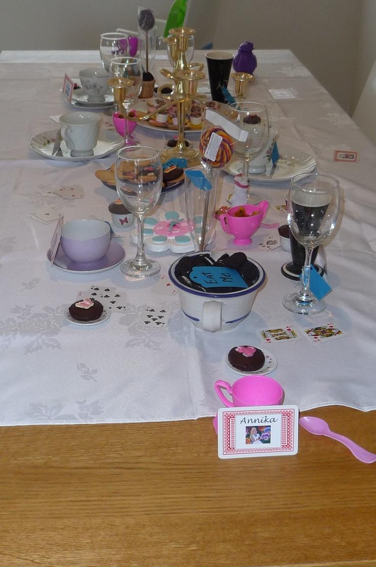 Alice in wonderland party we did .