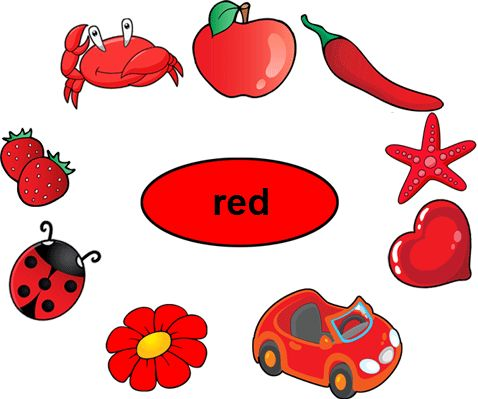 Color Red Worksheets for Kindergarten Color red