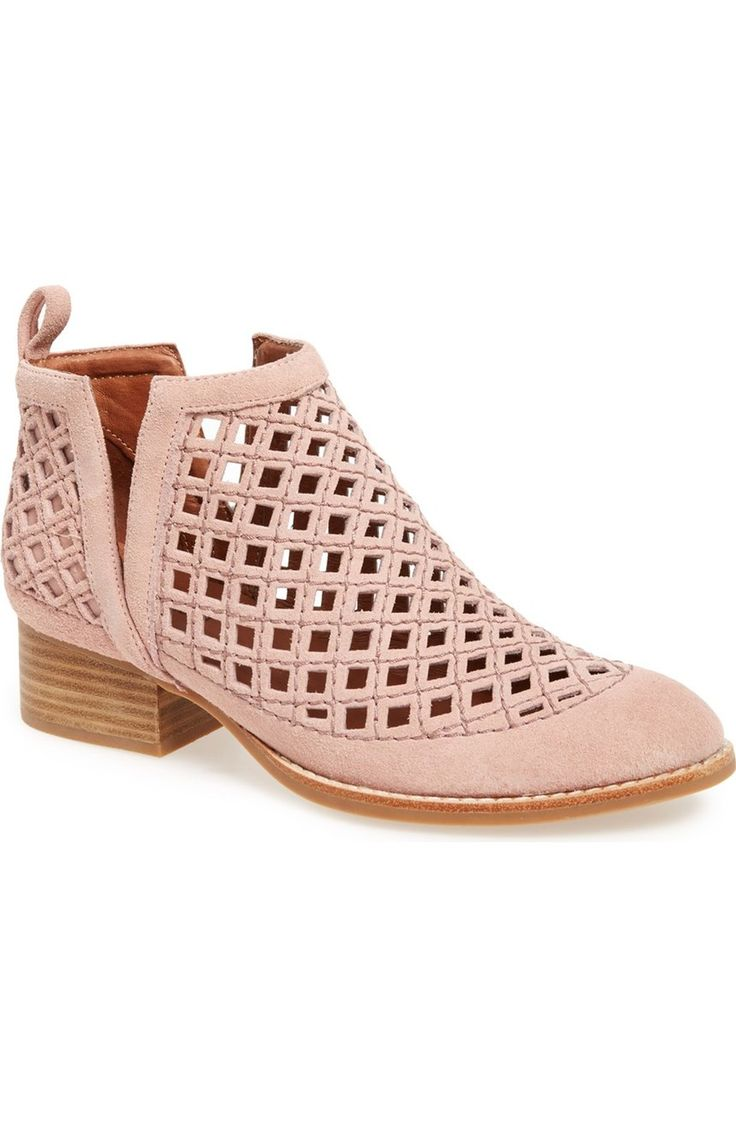 Pink suede makes these trendy ankle boots standout!