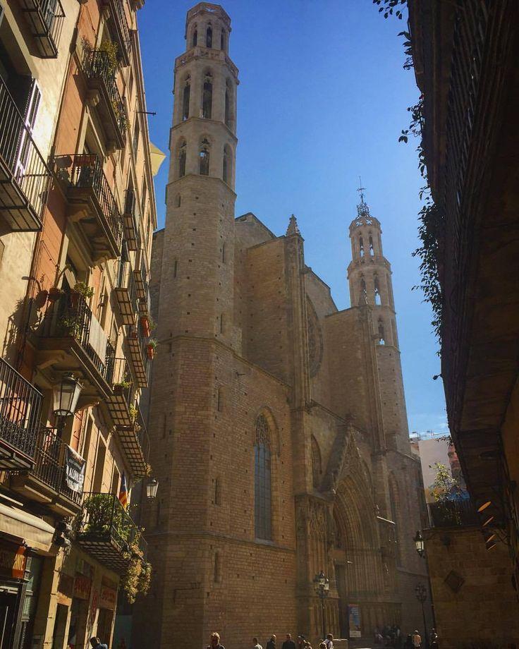 ☀️☀️☀️ #santamariadelmar #barcelona #españa (at Santa Maria del Mar, Barcelona)