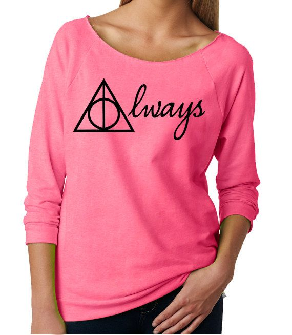 Harry Potter Womans Sweatshirt. Harry Potter Always by OlympicInk, $32.00