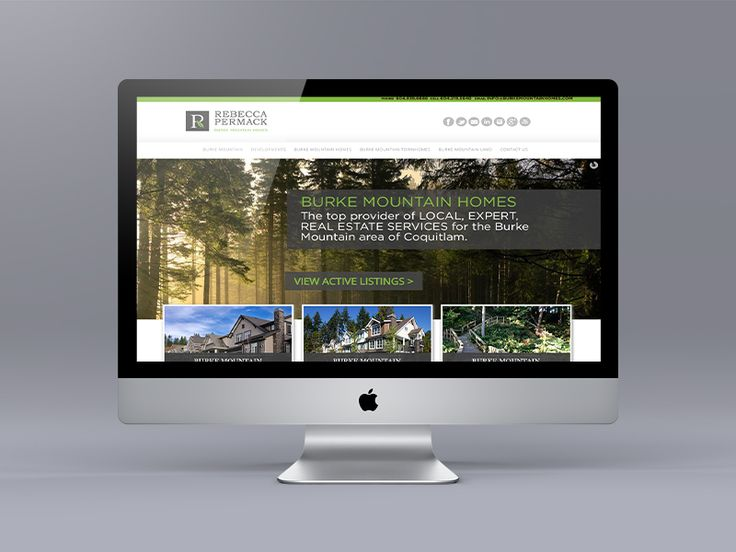 Website makeover for Rebecca Permack a Burke Mountain real estate specialist. Uses the Ubertor CMS with a Wordpress look and feel.