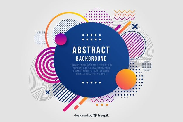 Download Flat Abstract Rounded Shape Background For Free Vector