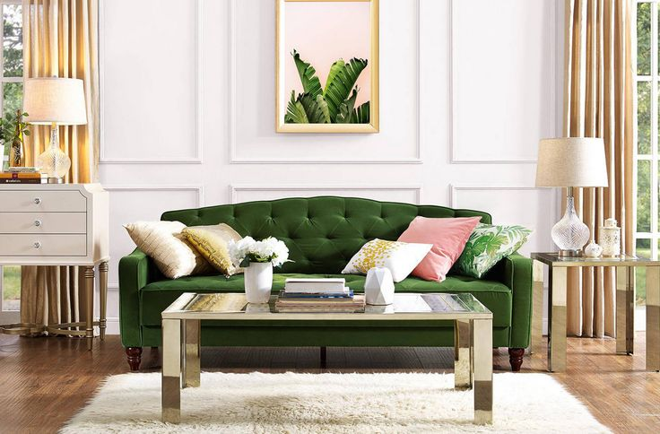 Heres our brand new green tufted futon avail on provided link!