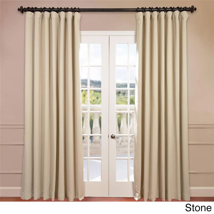 Exclusive Fabrics Extra Wide Thermal Blackout 108-inch Curtain Panel (Stone), Grey, Size 100 x 108 (Polyester, Solid)