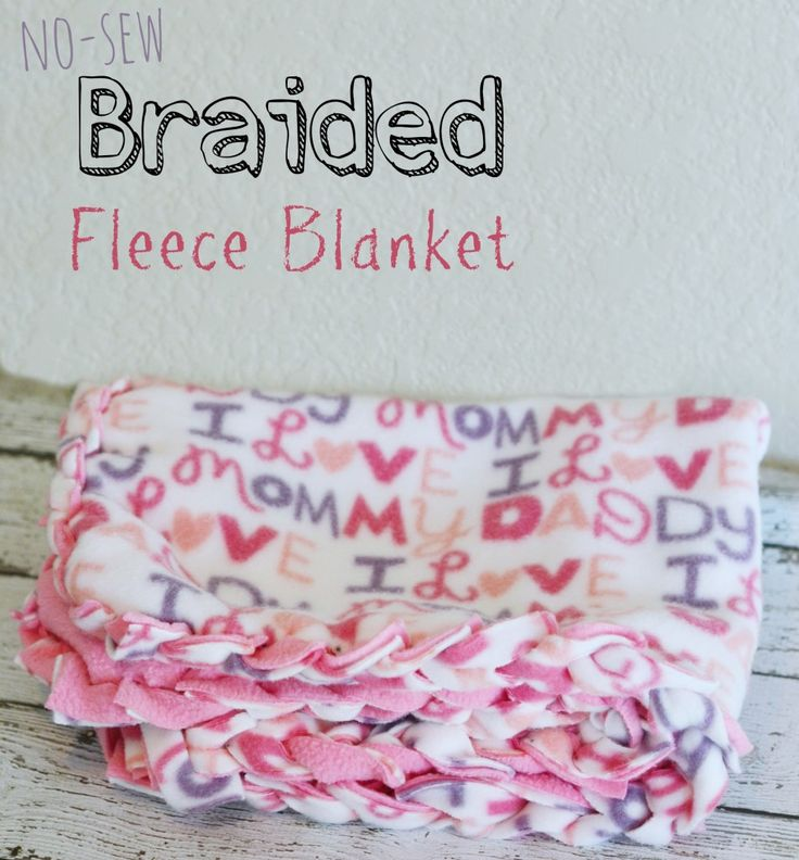 Eclectic Momsense   No Sew Braided Fleece Blanket   http://eclecticmomsense.com