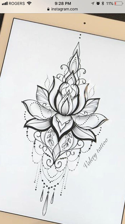 Best 7 Mandala Design Tattoo Would Love It As Tempo On My Sternum … #flower tattoos