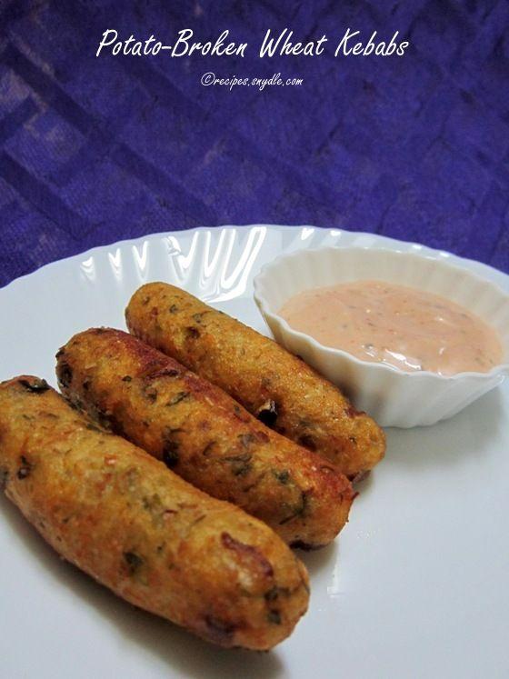 Potato-Broken Wheat Kebabs Recipe