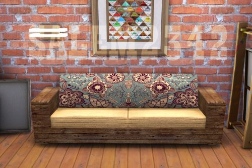 By Salem2342 Wooden Sofa For The Sims 4 3 Colors
