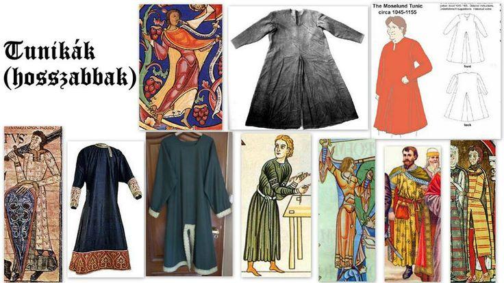 12. századi tunikák (hosszabbak)