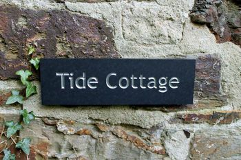 Recycled Slate Alternative Personalised House Name Sign
