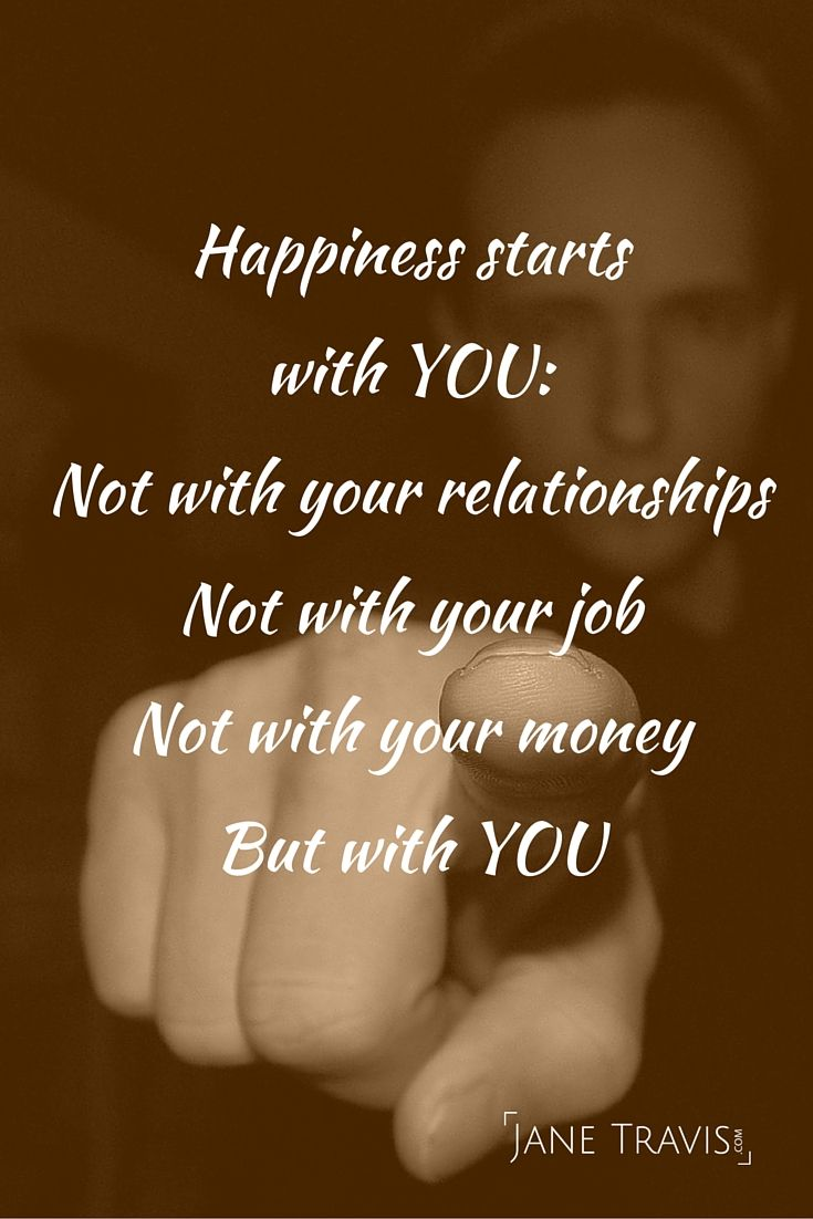 Happiness quote - happiness starts with you