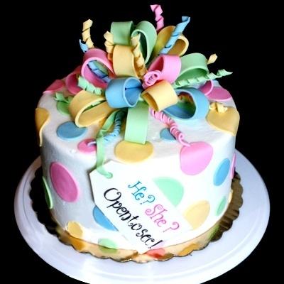 Baby Gender Revealing Cake ... or a birthday cake?