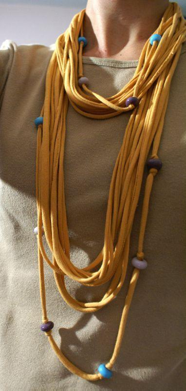 20 modelos de collares de trapillo sin tejer