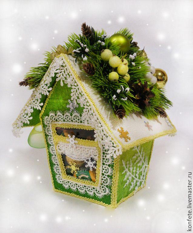 Купить Домик из конфет Новогодняя сказка - сладкий подарок, сладкий, подарок, подарок девушке