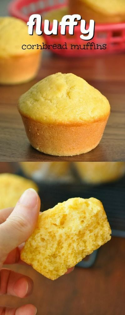 Fluffy Bakery-Style Cornbread Muffins :: so unbelievably soft and delicious!