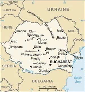 Bucharest, Craiova, Cluj, Transylvania