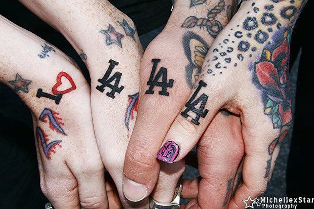 Group LA tattoos I've been thinking about get this tattoo but a little bit upper in my hand.