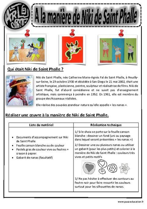 A la manière de Niki de St Phalle - Ce1 - Ce2 - Cm1 - Cm2 - Arts visuels - Cycle 3