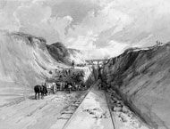 Great Western Railway, 1841 Isambard Kingdom Brunel Painting by George Childs © Science Museum