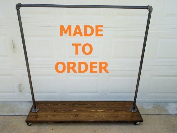 This is the made to order listing for our NYC Manhattan clothing rack. This rack is hand made with reclaimed wood and steel pipe. It features a