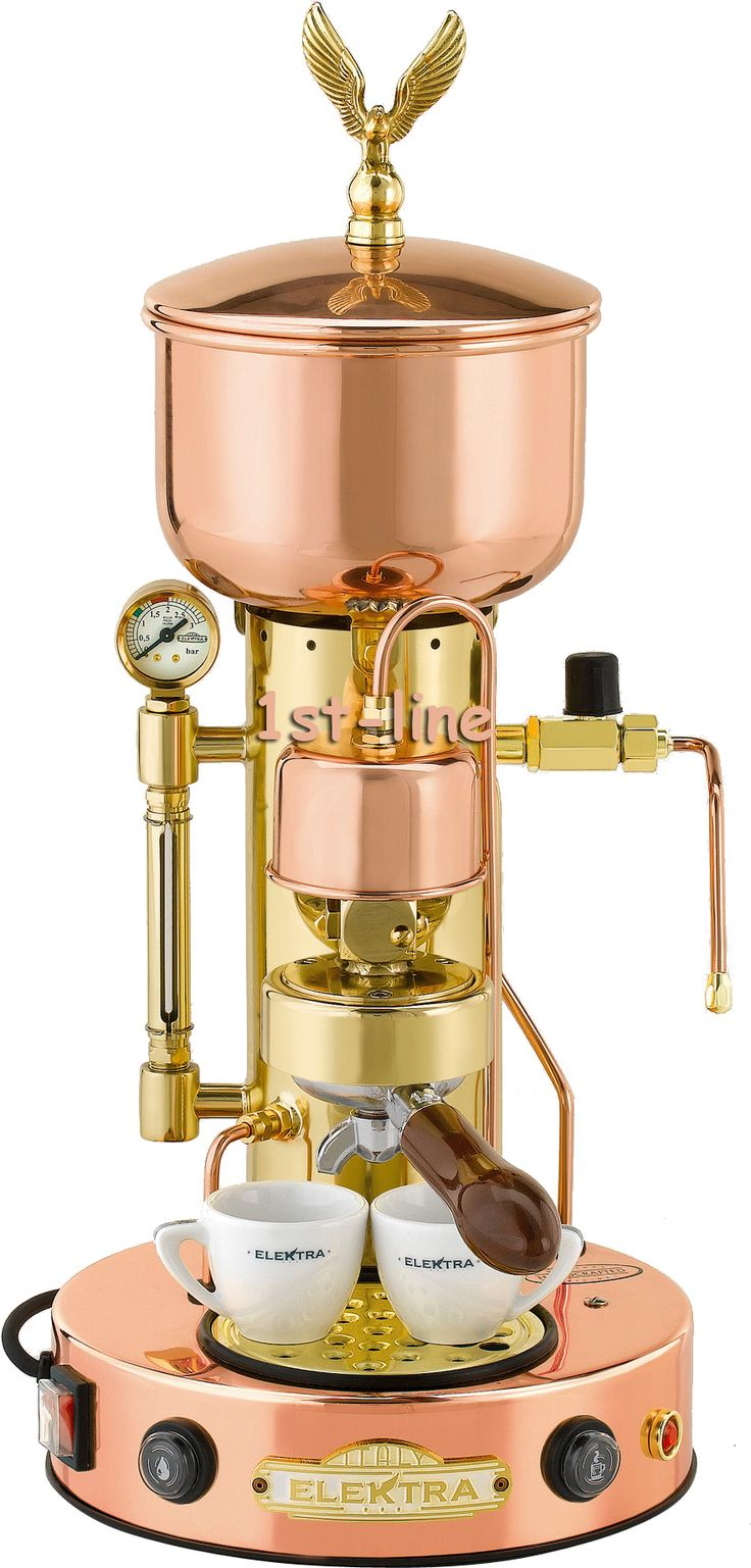 beautiful Elektra Steampunk espresso maker