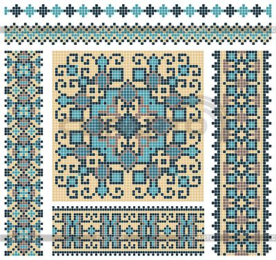 Cross-stitch ukrainian pattern