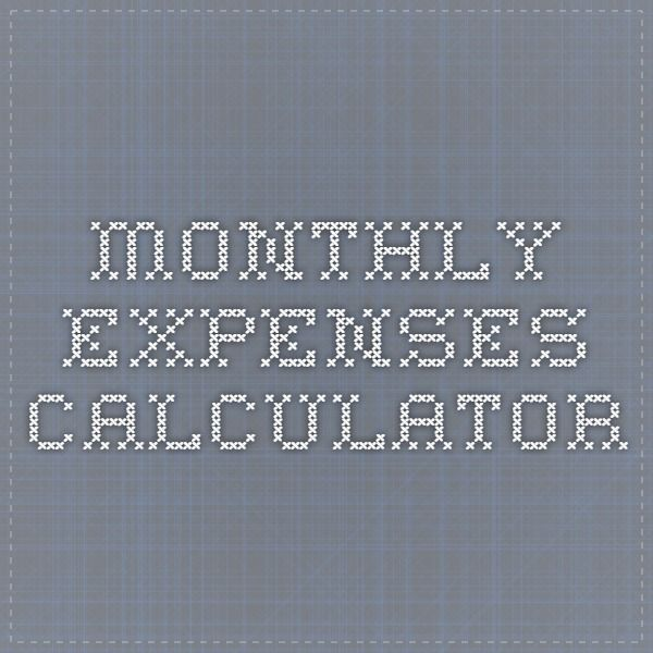 Best 25+ Monthly Budget Calculator Ideas On Pinterest