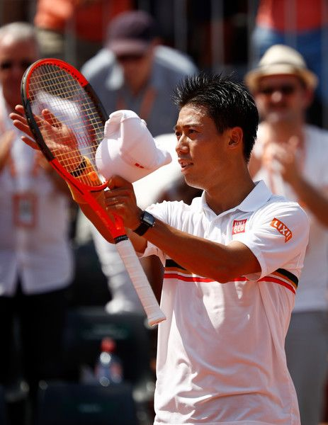 the men's singles second round match against Jeremy Chardy of France on day five of the 2017 French Open  at Roland Garros on June 1, 2017 in Paris, France. 2017 French Open - Day Five