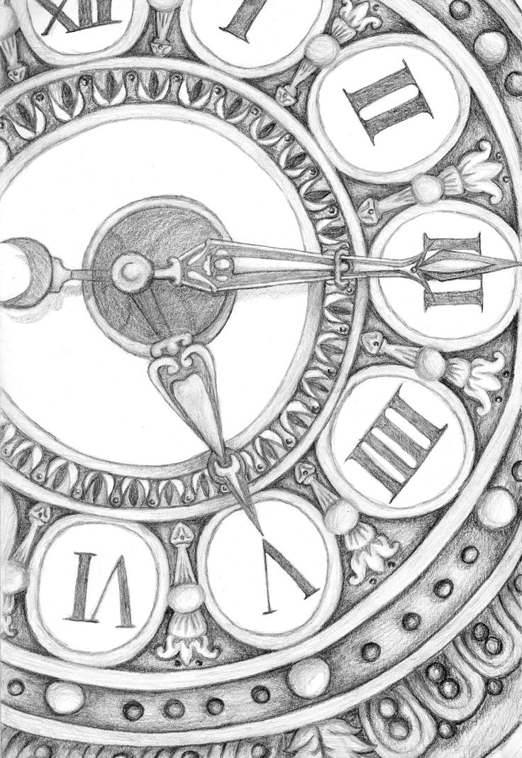 clock drawing tempus fugit pinterest i love clock