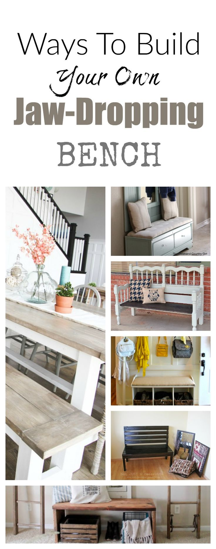 YES YES YES!  I am making these DIY benches! This site also has hundreds of other tutorials and tips on painting anything in or outside of your home!  A must REPIN for DIYers