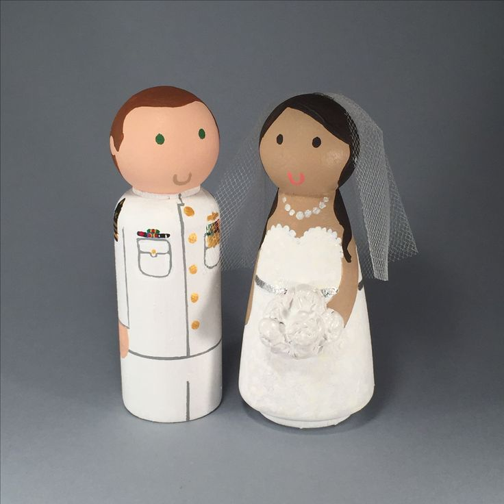 Indian Peg Doll Wedding Cake Topper