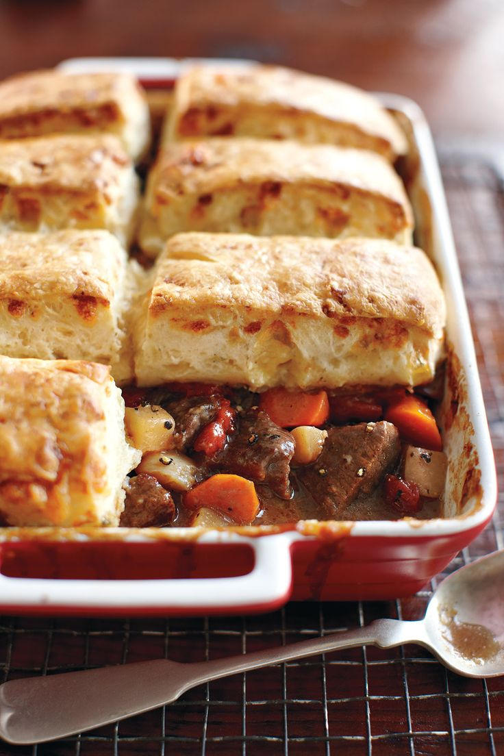 Beef Stew With Cheese Biscuits - 29 cozy recipes to get you excited about cold winter evenings