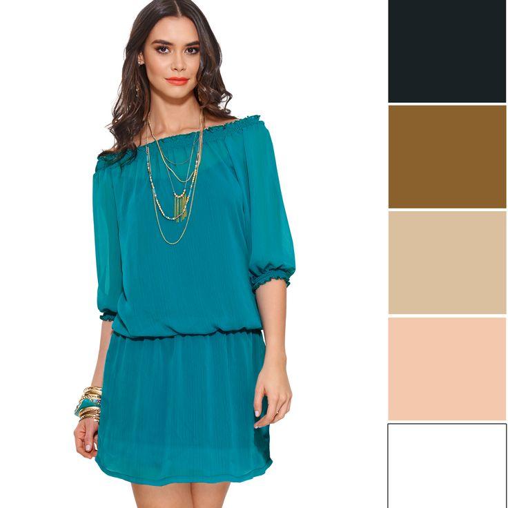 Combinar vestido turquesa. Dupree