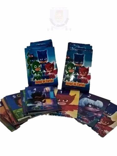 Cartas Naipes Souvenirs Pj Masks X 10 Mazos Excelentes Cartas Pj Masks Heroes en Pijamas  Ideal Souvenir Cada compra equivale a 10 mazos Dos juegos en uno, Naipes estilo Español y Memotest