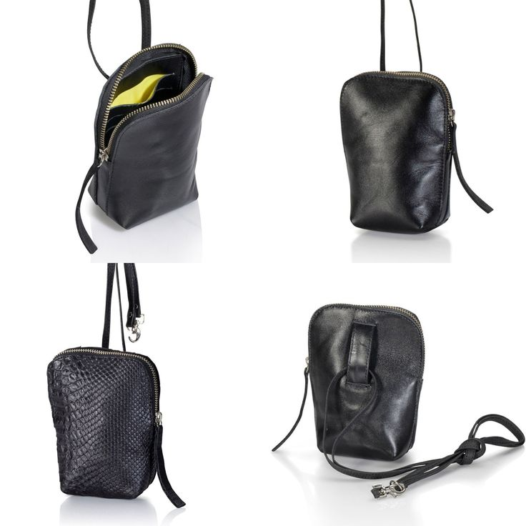 Small BLACK leather purse, can combine with every belt for a waist bag, for an easy weekend!   ONLINE SHOPPER - Enjoy 15%off the current sale prices with this coupon code - 15OFFEXTRA  www.etsy.com/shop/JUDtlv