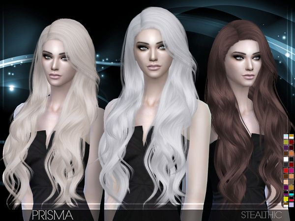 Prisma Female Hair by Stealthic at TSR via Sims 4 Updates
