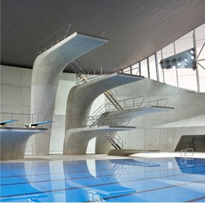 Londres 2012.- Centro acuático de Zaha Hadid