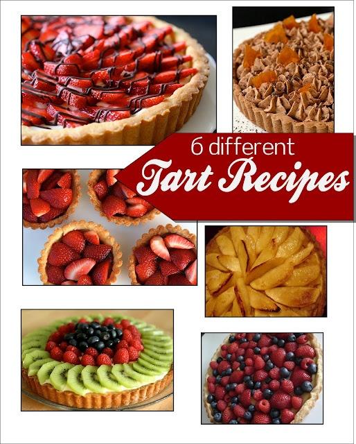 6 Different delicious Tart Recipes plus MORE