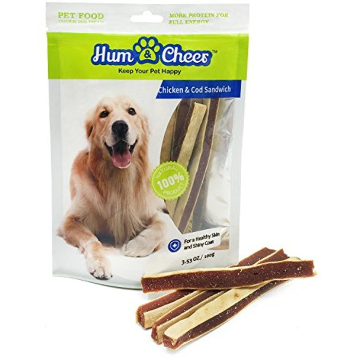 Hum & Cheer Premium Dog Treats, Chicken & Cod Biscuit Sandwich, Puppy Training Snack, 3.53 oz/Small ~~ You can learn more by visiting the image link. (This is an affiliate link and I receive a commission for the sales) #dogsandpuppiestraining