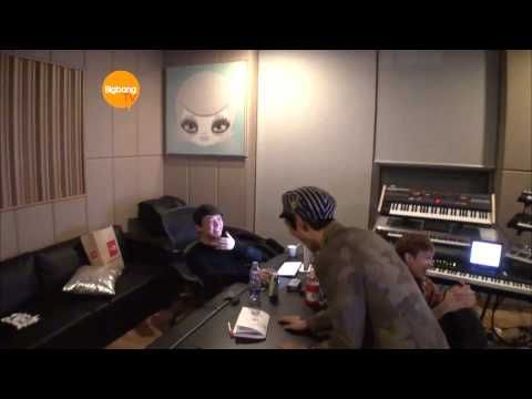 One of my fav moments of choom TOP acting silly. #Funny: T.O.P. Recording With G-Dragon Teddy and Kush! [HD] [ENG]